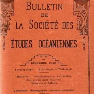 Bulletin de la Société des Études Océaniennes numéro 08