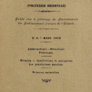 Bulletin de la Société des Études Océaniennes numéro 03