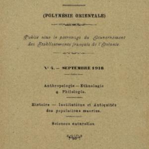 Bulletin de la Société des Études Océaniennes numéro 04