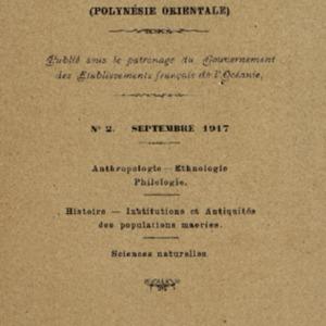 Bulletin de la Société des Études Océaniennes numéro 02
